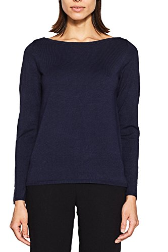 ESPRIT Collection Damen 997EO1I810 Pullover, Blau (Navy 400), Large (Herstellergröße: L)