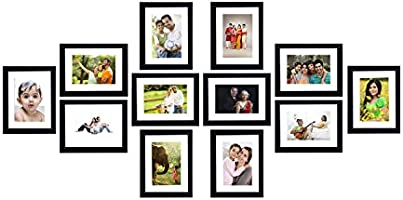 Solimo Collage Photo Frames (Set of 12, Wall Hanging)