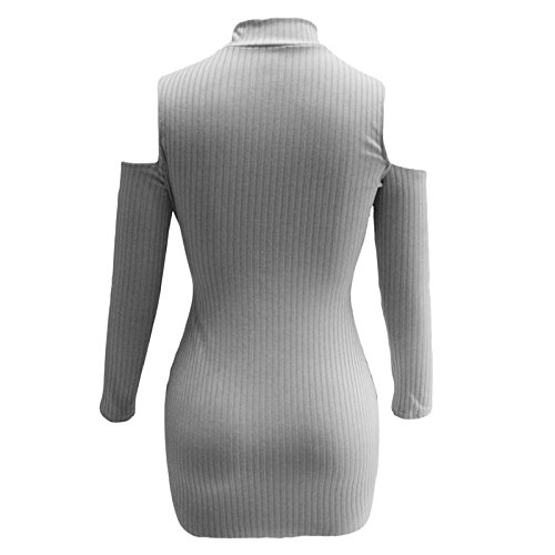 Mela Proibita Damen Schlauchkleid Kleid Grau