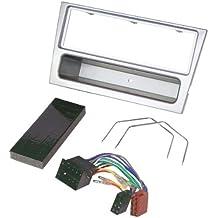 Baseline Connect - Set para instalación de radio para Opel (Corsa C, Combo, Omega C, Vectra B, Meriva, ISO), color plateado claro