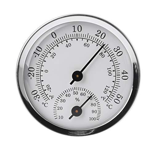 Meiqqm Analog Thermo-Hygrometer,An der Wand befestigtes Temperatur-Feuchtigkeitsmesser-Thermometer u. Hygrometer für Saunaraum-Haushalt