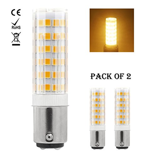 1819 Ba15d LED-Glühlampe 220V-240V 5W Warm Weiß 60W Halogen-Equivalent SBC Kleine Bajonett LED-Birnen für Nähmaschine / Appliance-Lampen (2-Packs) (Glühlampe Appliance Lampe)