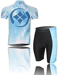 dushow Multi Color Ciclismo conjunto Jersey, corto Camisa Verano Hombre