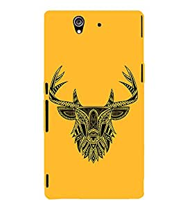 Indian Deer Graphics 3D Hard Polycarbonate Designer Back Case Cover for Sony Xperia Z :: Sony Xperia Z L36h