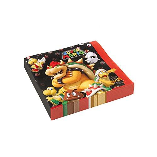 PARTY DISCOUNT ® Servietten Super Mario, 20 Stück