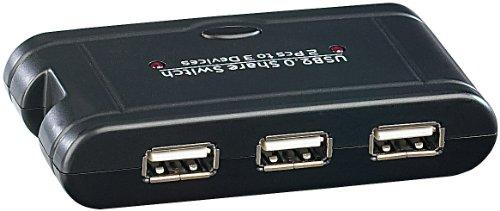 c-enter USB Umschalter: USB-Switch für 3 USB-Geräte an 2 PCs (USB Switch 2 PC)