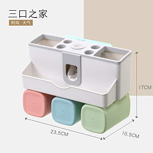 XingHe222 Wandbehang Punch-Free Nordic Wash Zahnbürste Rack Set Squeeze Zahnpasta Mundspültasse 31.5x10.5x17cm 1