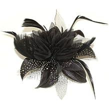 Pretty Cool - Blume & Feder Kopfschmuck - Schwarz,