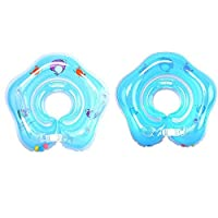 Inflatable Baby Neck Swimming/Bath Float (Blue)