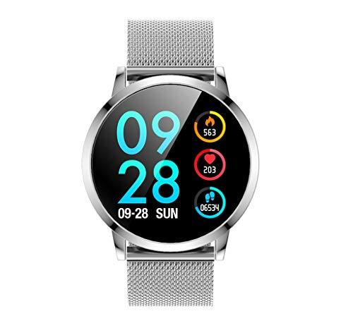 """DK05 wasserdichte Smartwatch 1,22""""Zoll, Bluetooth Blutdruck Herzfrequenz Kalorien Schlaf Monitor Sport Schrittzähler, kombiniert mit Mode, Sport und Business, Ultra Slim Light Design"""