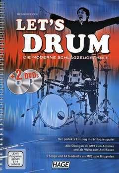LET'S DRUM - arrangiert für Schlagzeug - mit 2 DVD´s [Noten / Sheetmusic] Komponist: PFEIFER BENNI