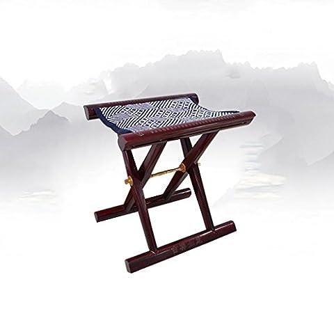 TangMengYun Chinese mahogany folding stool for shoe stool red 33