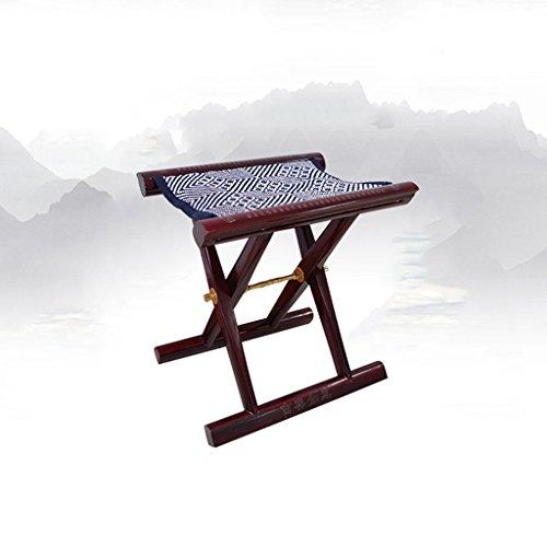 TangMengYun Chinesischer Mahagoni Klappstuhl für Schuh Hocker rot 33 * 26 * 35cm -
