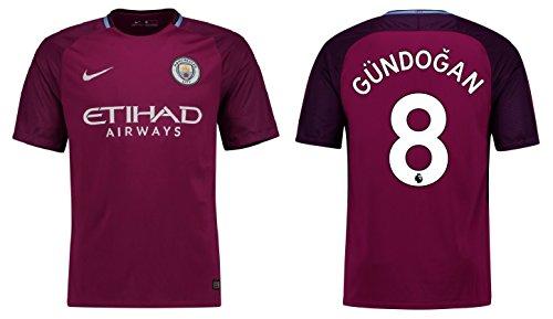 Trikot Herren Manchester City 2017-2018 Away - Gündogan 8 (L) (Auswärts City Trikot)