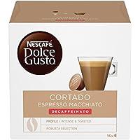NESCAFÉ DOLCE GUSTO CORTADO ESPRESSO MACCHIATO DECAFFEINATO Caffè macchiato decaffeinato 3 confezioni da 16 capsule (48 capsule)