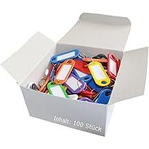 Wedo 262 - Llavero identificador de plástico (100 unidades), varios colores