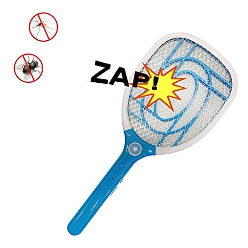 Chlry Raqueta Matamoscas Electrico Mata Moscas Mosquitos, diseño de Seguridad, USB Recargable, luz LED, para Interiores y Exteriores, Repelente Plagas Moscas Interiores zancudo antimosquitos lampara