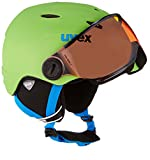 UVEX Kinder Junior Visor Pro Skihelm, Applegreen Mat, 46-52 cm