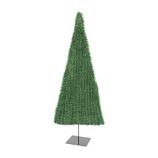 artplants.de Set de 2 x Árbol de Navidad Artificial Jacobus, Plano, Verde, 120cm – Abetos sintéticos – Adornos navideños