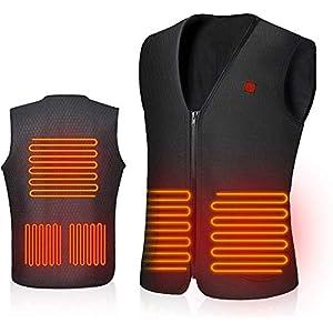 AiBast Beheizte Weste, USB-Lade Leichte Heizweste Elektrische Beheizte für Herren und Damen, Waschbare Heizung Warme…