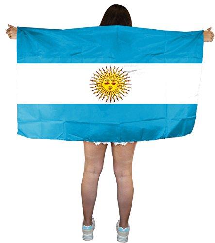 Sonia Originelli Fan Poncho Umhang Flagge Fußball WM Länder Cape Farbe Argentinien