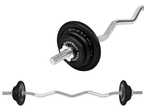 Guss Hantel-Set 24,5Kg (1 x SZ-Hantelstange 120cm, 2x1,25, 2x2,5 und 2x5Kg Hantelscheiben) Hanteln Gewichte Scheiben