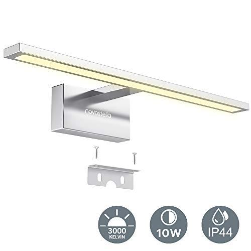 LED Lámpara de Espejo 750LM, 400x125x60mm Novostella 10W Aplique Espejo Baño LED Interior, Luz Blanca...