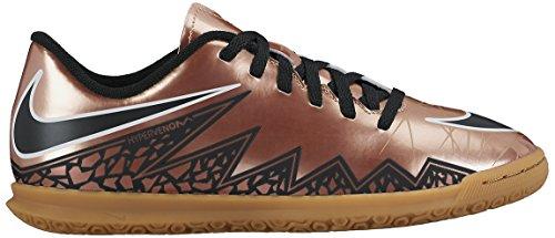 Nike Jr Hypervenom Phade Ii Ic, Chaussures de Football Garçon Brown / Black / White (MTLC BRNZ Rd / Blk-Grn-Blanc- GLW)