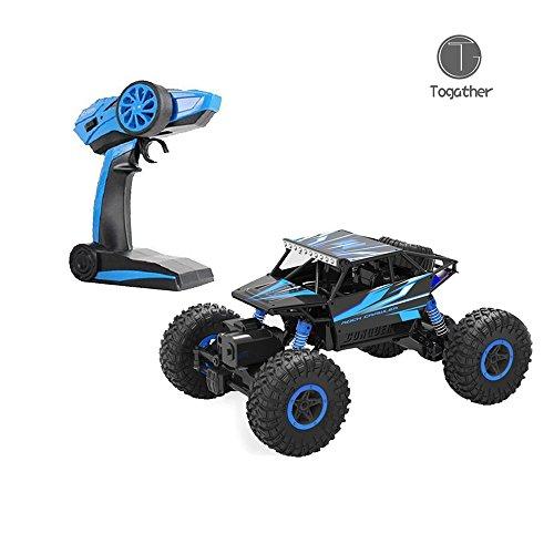 Togather 2.4G telecomando RC Camion Alte prestazioni Sumo Jumping Car Mini SUV Auto Giocattolo con rock Crawler - Blu