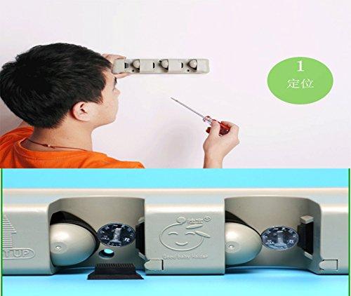 Ad Fresh Multipurpose Wall Mounted Organizer Storage, Ideal Broom Hanger for Kitchen Garden and Garage 5 Position