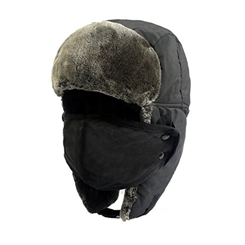 Highdas Erwachsene Unisex Pelzfutter Trapper Trooper Earflap Schnee Ski Winter Bomber Maske Hut Cap Cycling C3 (Cotton Cap Cycling)