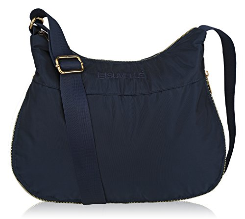 SUVELLÉ Suvelle Lightweight Hobo Travel RFID Blocking Expandable Crossbody Bag Multi Pocket Shoulder Handbag BA20 ... - Classic Nylon Tote