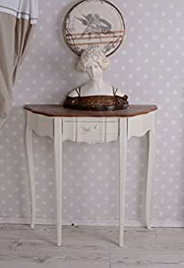 romantisch weisse vintage konsole im shabby chic stil k che haushalt. Black Bedroom Furniture Sets. Home Design Ideas