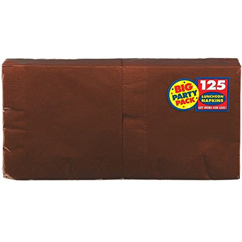Amscan 203258 Chocolate Brown Big Party Pack - Lunch-Servietten