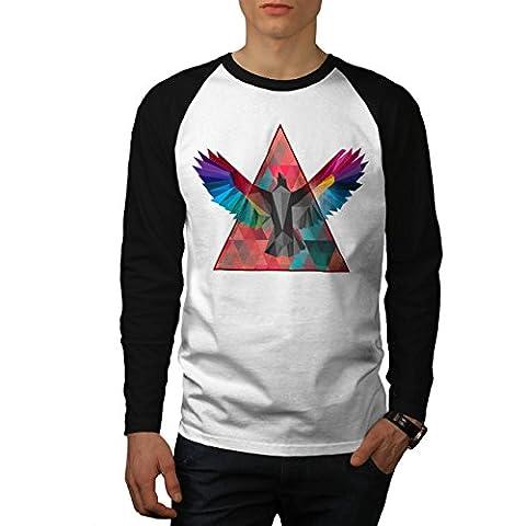 Géométrique Oiseau Mode Oiseau Vol Men M T-shirt à manches longues | Wellcoda