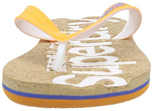 Superdry Herren Cork Flip Flop Zehentrenner mehrfarbig (Multicolore (Cork/Optic/Fluro OrangeWZF))