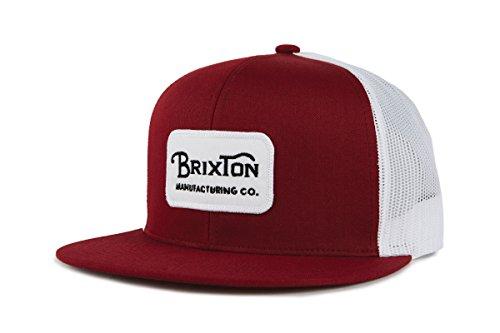 Brixton Grade MESH Cap Headwear, Weinrot/Weiss/Schwarz, One Size