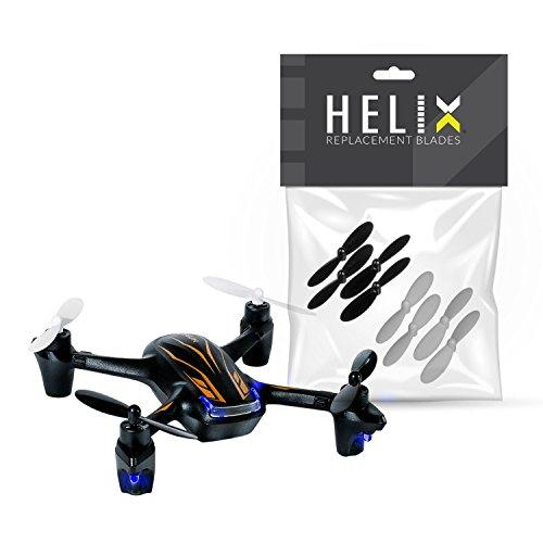 Hubsan X4 PLUS H107P 2.4G 4CH RC Quadcopter Includes 2 sets of BONUS replacement blades (by HELIX)
