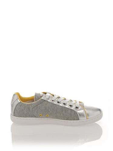 Lotto Leggenda Sneaker Leder Newkporto grau silber gelb Newkporto grau silber gelb