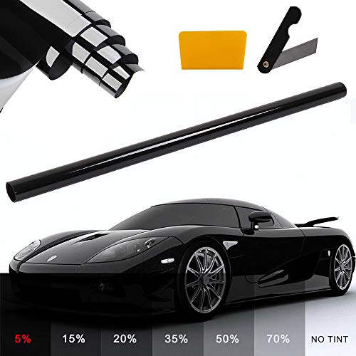 AllRight Schwarz 5% Solar Screen Profi Auto Tönungsfolie Scheibenfolie 300x76cm