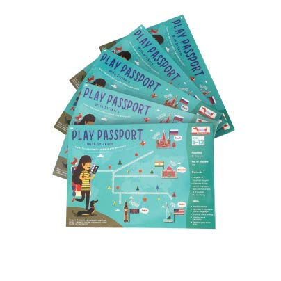 CocoMoco Kids Return Gift Combo Pack for Kids Birthday - 5 Pieces of Play Passport Activity Kit with Flags, Monuments, Capitals, Languages STEM Educational Toy (Multiple)