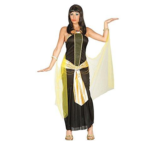 Kleopatra Kostüm Ägypterin Antike Ägypten Pyramide Königin Kleid schwarz Gold Prinzessin Orient Orientalisch Gr. M-L, Größe:M