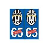 Juventus de Turin Juve sticker numéro au choix autocollant Foot - Angles : arrondis