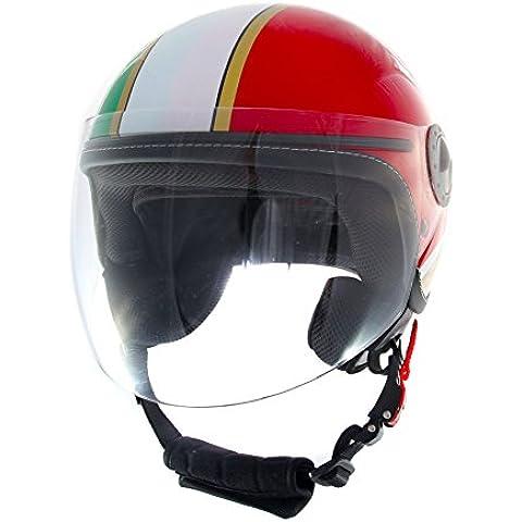 CASCO JET MTRK 730 GRAFICA ITALIA TRICOLORE ITALY HELMET HELME CASQUE CAPACETE SCOOTER MOTO L