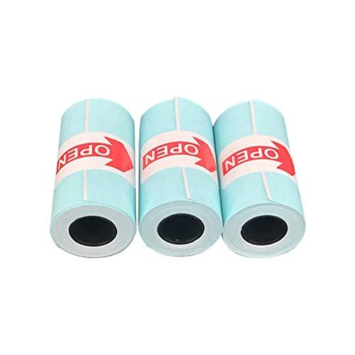Fliyeong 3 Stücke Weiß 57x30mm Thermodruckpapier Aufkleber Für Telefon Thermodrucker Thermodruck Aufkleber Normale Temperatur Vermeiden Feuchtigkeit Druckpapier Stick Hohe Qualität -