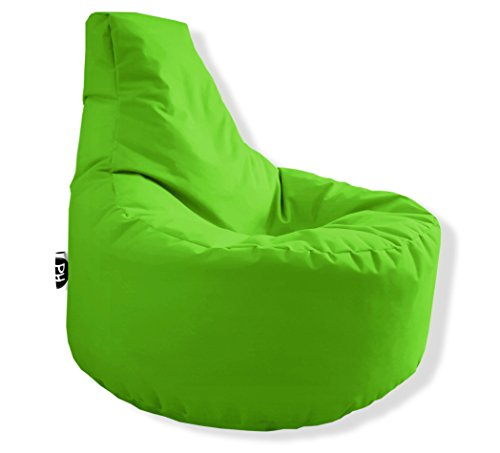 Patchhome Gamer Kissen Lounge Kissen Sitzsack Sessel Sitzkissen in & Outdoor Geeignet fertig befüllt - Kiwi - in 25 Farben (600 Denier Polyester-gewebe)