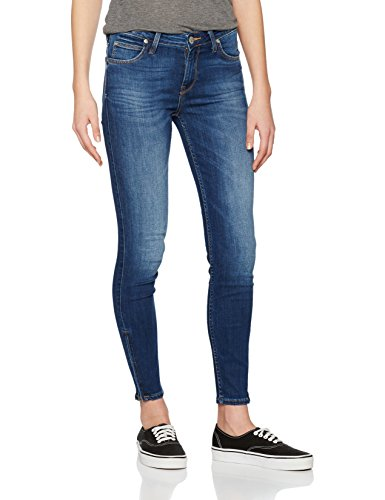 Lee Damen Scarlett Cropped Jeanshose, Blau (Night Sky IM), W28/L31