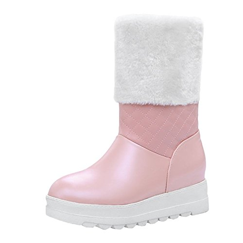 Mee Shoes Damen hidden heels halbschaft runde Stiefel Pink