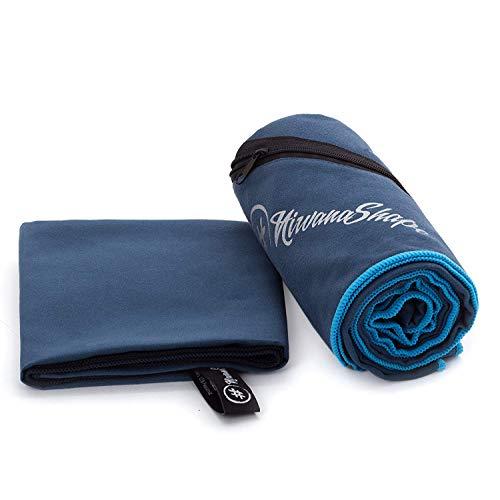 2er-Set Premium Mikrofaser Handtücher - inkl. Packtasche