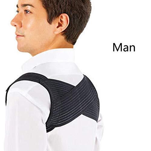 GUIGSI Adult Posture Corrector Einstellbare Schulter Lendenwirbelstütze Spine Support Belt